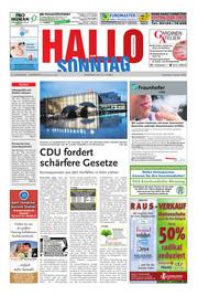 Hallo zum SONNTAG Hameln Ausgabe 001