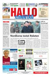 Hallo zum SONNTAG Hameln Ausgabe 011