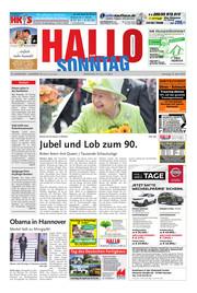 Hallo zum SONNTAG Hameln Ausgabe 016