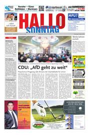 Hallo zum SONNTAG Hameln Ausgabe 017