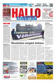 Hallo zum SONNTAG Hameln Ausgabe 022