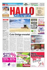 Hallo zum SONNTAG Hameln Ausgabe 028