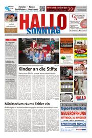 Hallo zum SONNTAG Hameln Ausgabe 047