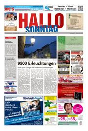 Hallo zum SONNTAG Hameln Ausgabe 050