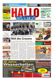 Hallo zum SONNTAG Bad Pyrmont Ausgabe 044