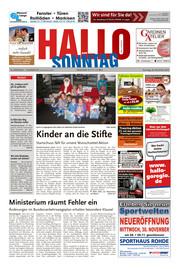 Hallo zum SONNTAG Bad Pyrmont Ausgabe 047